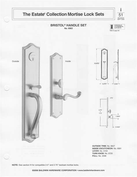 baldwin mortise lock diagram mortise lock parts diagram