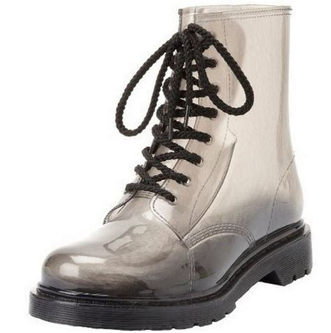 mens jelly boots plus size s gumboots gumshoes clear jelly