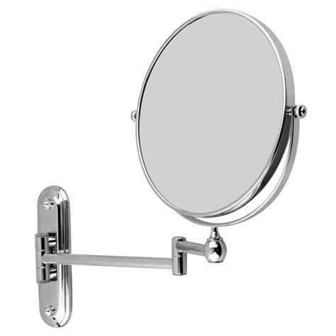 magnifying bathroom mirrors wall mounted wall mounted bathroom folding extending arm makeup 10x
