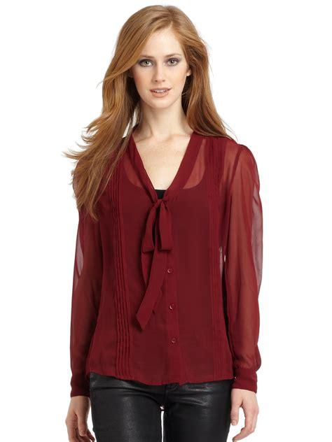 Mirisa Blouse w118 by walter baker marisa chiffon blouse in lyst