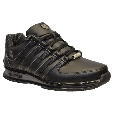 Charcoal Leather by K Swiss K Swiss Rinzler Sp Leather Black Charcoal N91