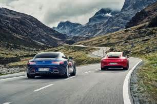 Porsche Vs Mercedes Mercedes Amg Gts Vs Porsche 911 Gts 2015 Review By Car