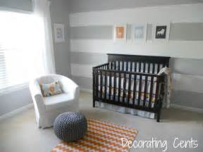 Light Pink Valance Gray And Orange Nursery Project Nursery