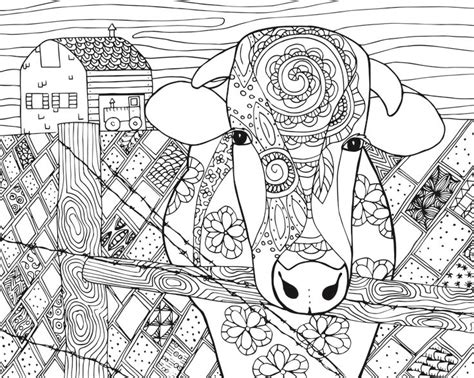 cow adults coloring books stress relief coloring book for grown ups books cow coloring pages for 4 gianfreda net