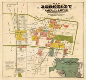 berkeley california maps berkeley map map of berkeley ca by ancientshades on etsy