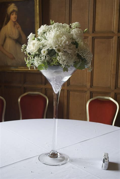 Martini Glass Vase Flower Arrangement by Martini Vase With Cake Ideas And Designs