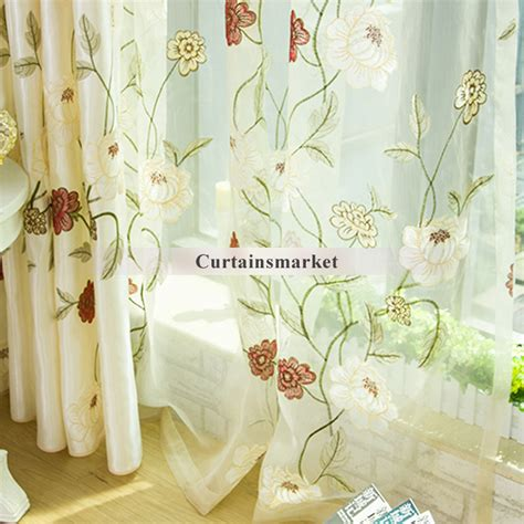 floral bedroom curtains delicate floral bedroom curtains with embroidery patterns