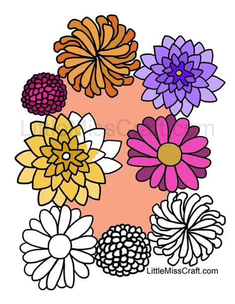 coloring pages of fall flowers crafts fall flowers coloring page