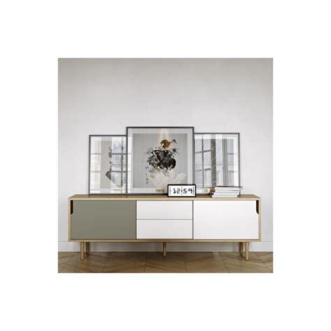 Meuble Blanc Gris by Meuble Tv Danois Gris Blanc Et Bois Arne Concept