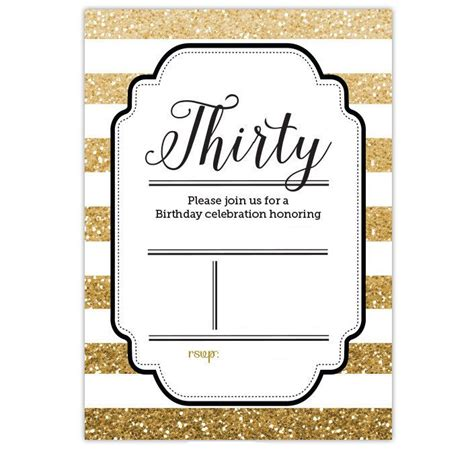 nice free template free printable gold glitter 30th