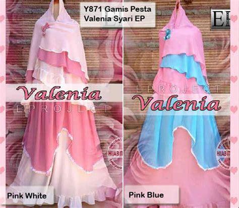 Gamis Syari Valenia Baju Gamis Pesta Syari Valenia Y871 Xl Model Busana Muslim
