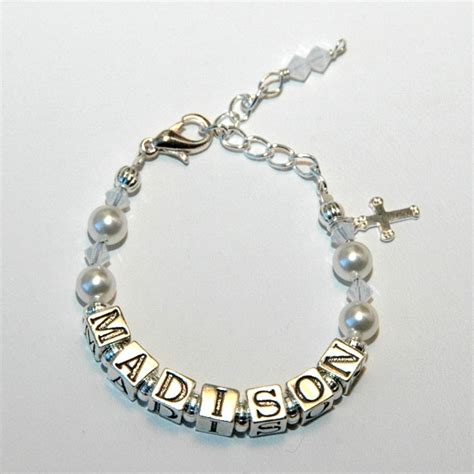 Handmade Baby Bracelets - baby birthstone name bracelet custom by jenuine articles