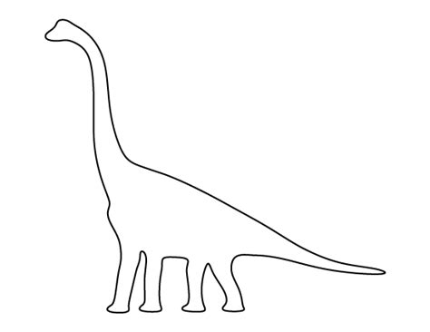Dinosaur Templates To Print by Brachiosaurus Pattern Use The Printable Outline For