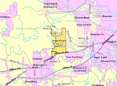 houston extraterritorial jurisdiction map populated places in fort bend county