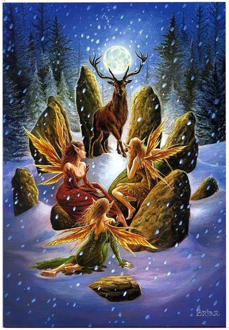 shop yule stag greeting card  shipping  orders    gryphons moon