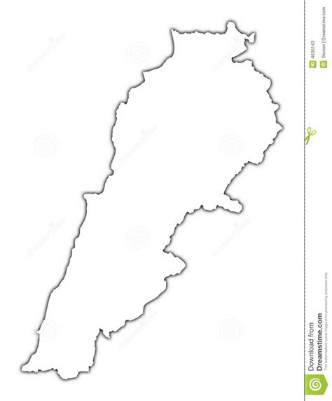 lebanon map coloring page lebanon outline map stock illustration illustration of