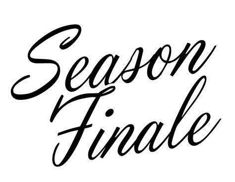 Season Finale Of The by Season Finale Sale