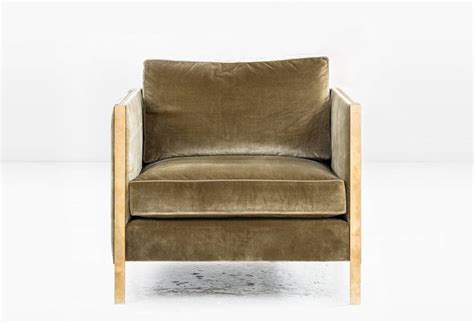 armstrong armchair or club chair with filled silk