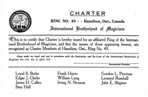 doug henning magic wand club charter