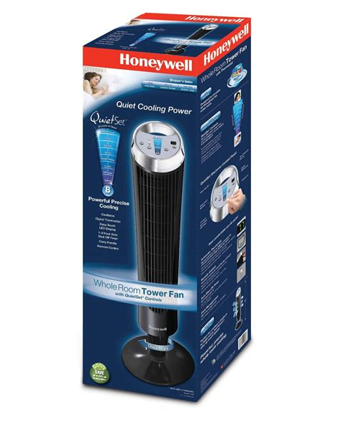 honeywell quietset whole room tower fan black the honeywell hy 280 quietset whole room tower fan black honeywell fans tower fans