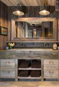 Rustic Bathroom Lighting Ideas 34 Rustic Bathroom Vanities And Cabinets For A Cozy Touch Digsdigs