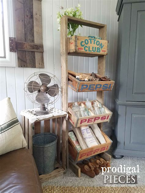 soda crate stand  vintage crates prodigal pieces