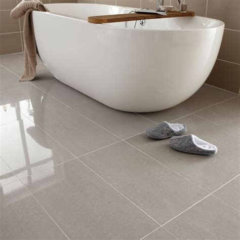 Porcelain Bathroom Floor Tiles Regal Porcelain From Topps Tiles Bathroom Flooring Ideas Housetohome Co Uk