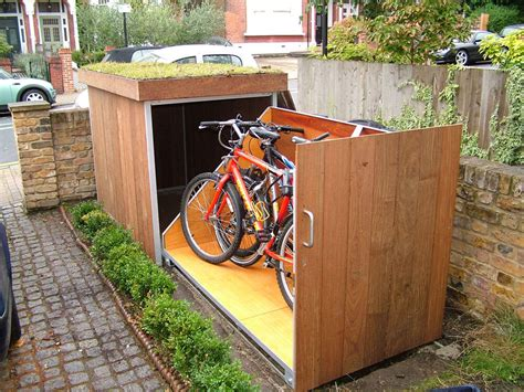 backyard storage upgrading bike storage possibilities modern outdoor bike