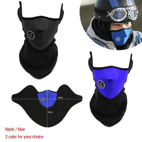 Motorcycle Ski Half Mask Masker Motor Black Murah new winter motorcycle ski half mask fleece windproof warm cover neck guard ebay