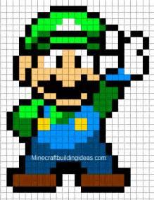 minecraft pixel templates minecraft pixel templates luigi