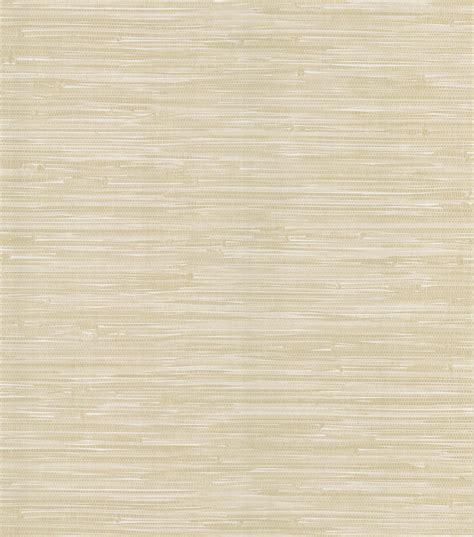 faux grasscloth wallpaper home decor madagascar cream faux grasscloth wallpaper sle at joann com