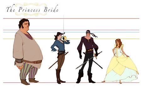 The Princess Bride Line up by Asashi Kami on DeviantArt