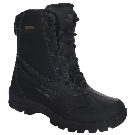 trespass yetti mens snow boots trespass mens hikten waterproof lace up snow boots ebay