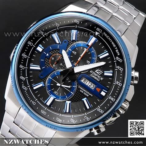 Casio Edifice Efr 556 Silver Blue buy casio edifice chronograph mens efr 549d 1a2v efr549d buy watches casio nz