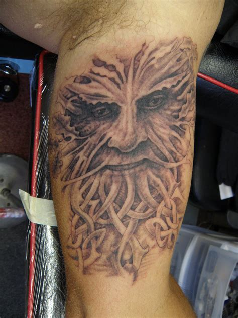 green man tattoo designs green by phoenixtattoos on deviantart