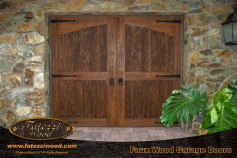 Fatezzi Garage Doors by Faux Wood Faux Garage Doors Fatezzi Wood Inc