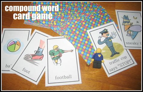 printable word card games relentlessly fun deceptively educational compound word