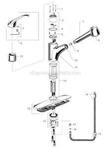American Kitchen Faucet Parts American Standard 4205 104 F15 Parts List And Diagram