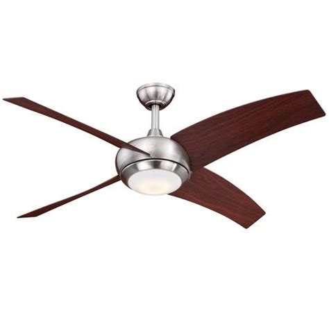 turn of the century ceiling fan turn of the century ridge 48 in satin nickel led ceiling