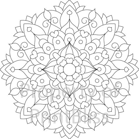 flower mandala coloring pages printable 14 flower mandala printable coloring page