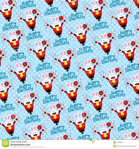 background design vector format birthday background with bunny royalty free stock