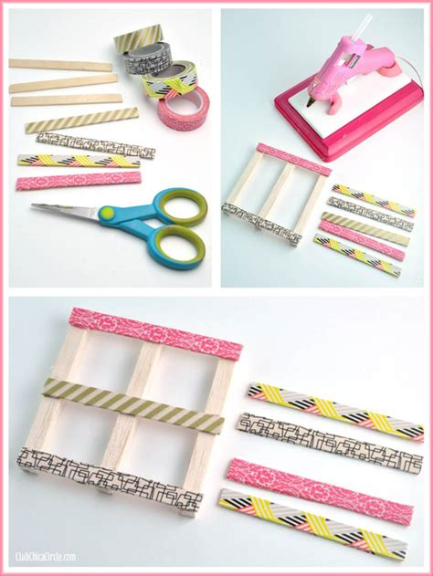 diy washi tape crafts washi tape mini wood pallet diy coasters washi tape crafts