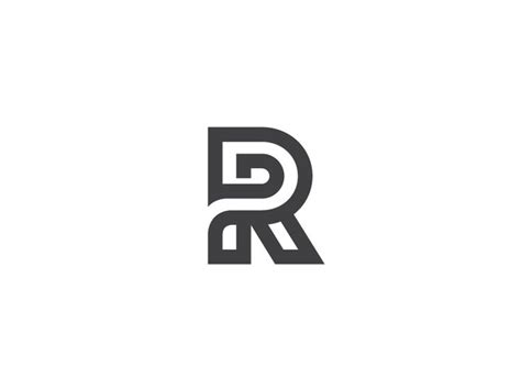 r logo r by george bokhua typography calligraphy pinterest