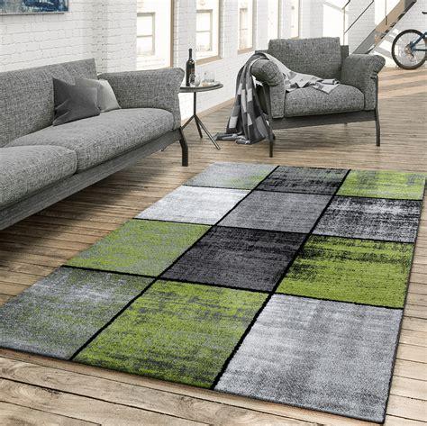 grauer teppich wohnzimmer teppich wohnzimmer modern kariert meliert grau schwarz