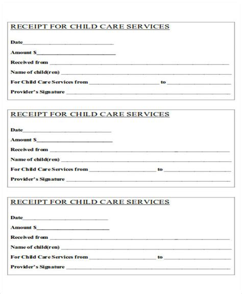 daycare tax receipt template 36 printable receipt forms sle templates