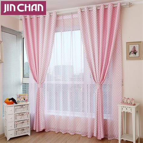 pink plaid curtains online buy wholesale pink plaid curtains from china pink