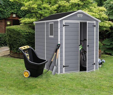 amazoncom keter manor  foot large resin outdoor shed kit  lawn mower  bike storage