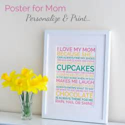 day special gifts to amaze your sweetheart personalized mothers day gift poster