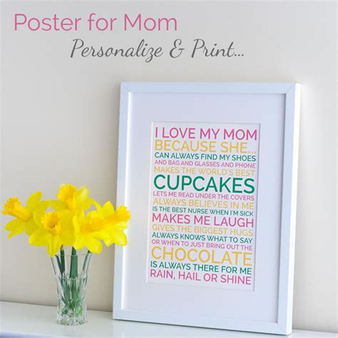 unique mothers day gifts personalized mothers day gift poster