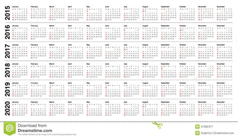 printable calendar 2015 to 2018 7 best images of printable yearly calendar 2015 2016 2017